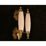 Ceramic and Brass Pull Handles