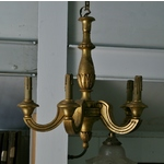 Gilt Five Branch Chandelier