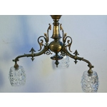 Victorian Bronze Three Branch Light