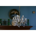Modern Glass Nine Branch Chandelier