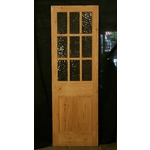 Half Glazed Stripped Pine Door