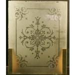 Pair Victorian Etched Glass Panels