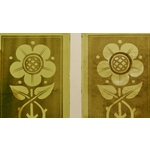 Green Etched Glass Panels