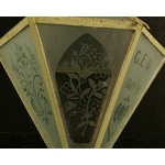 Etched Glass Lantern
