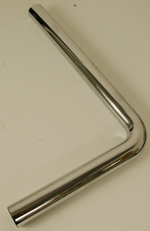 Chrome Low Level Flush Pipe