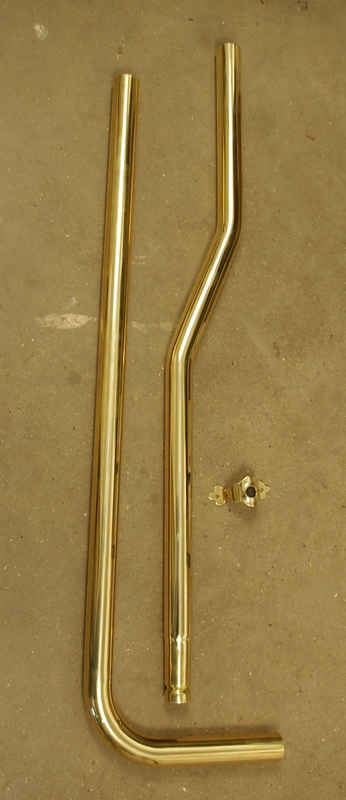 Polished Brass High Level Flush Pipe