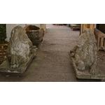 Pair Recumbent Lions