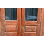Pair Glazed Cupboard Doors