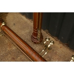 Victorian Mahogany and Brass Curtain Poles