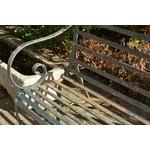Strap Iron Garden Bench