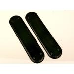 Pair Black Ceramic Finger Plates