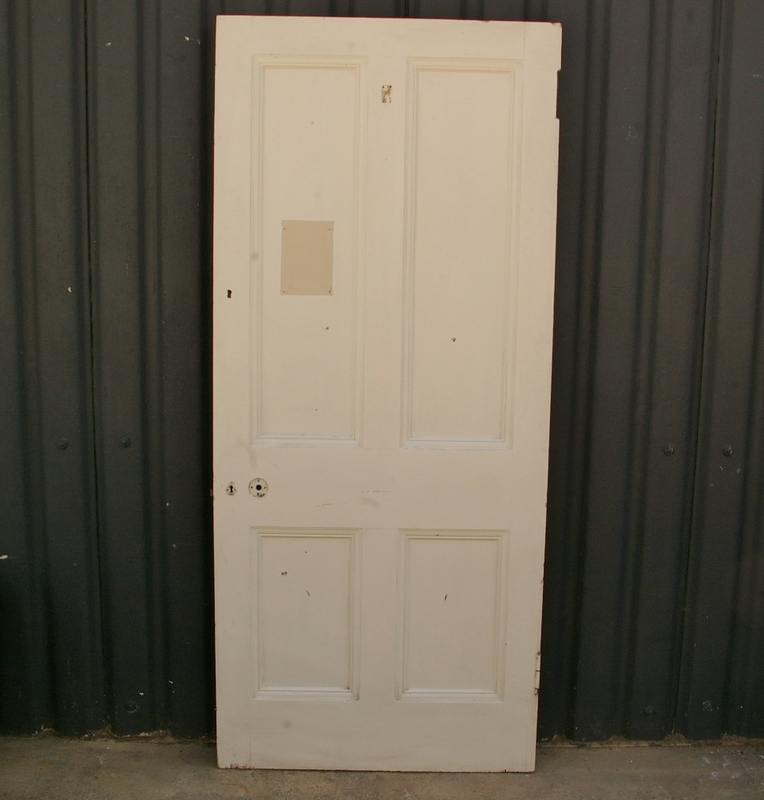Large Painted Pine Four Panel Door