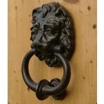 Iron Lions Head Door Knocker