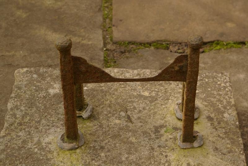 Iron Boot Scraper Set in Stone