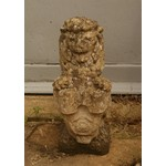Composite Seated Lion with Shield