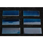 6 x 2 Inch Blue Glazed Tiles