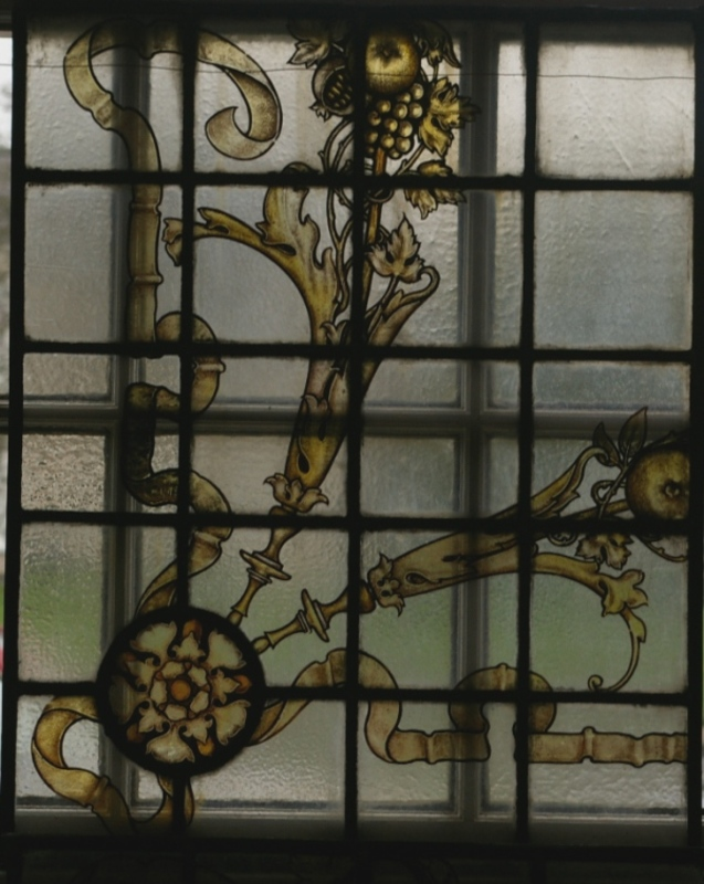 Two Stained Glass Panels
