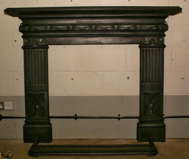 Pair Victorian Cast Iron Firesurround
