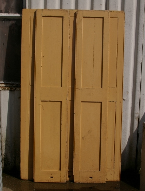 Set Of Painted Pine Shutters