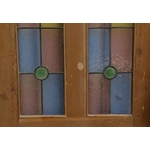 Half Glazed Door With Coloured Glass Panels
